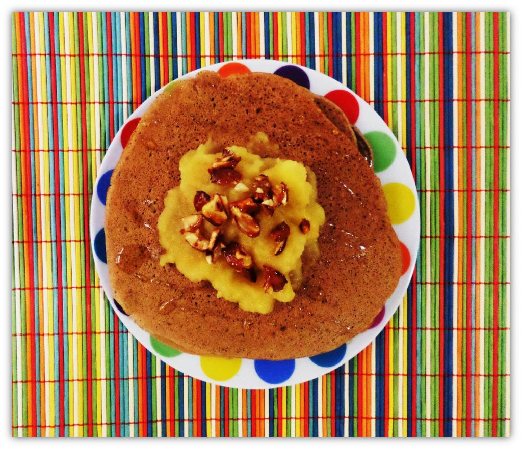 Pancakes with Apple Compote